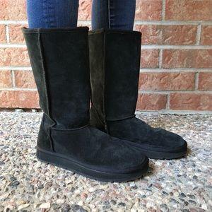 Soft Black Faux Fur Winter Boots